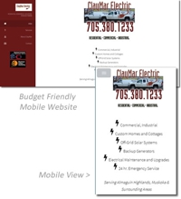 Budget Friendly Mobile website